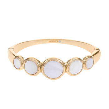 Monet Jewelry Gold Tone Round Bangle Bracelet