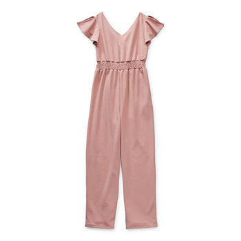 Emerald Sundae Little & Big Girls Short Sleeve Jumpsuit