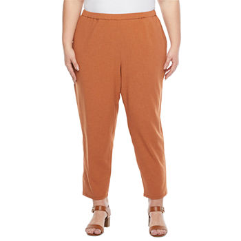 Liz Claiborne-Plus Womens Slim Pull-On Pants