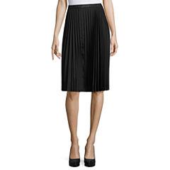 Liz Claiborne Woven Pleated Skirt