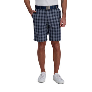 Haggar® Cool 18® Pro Kitchen Plaid Classic Fit Flat Front Short