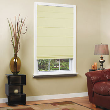 Textured Cordless Room Darkening Roman Shade