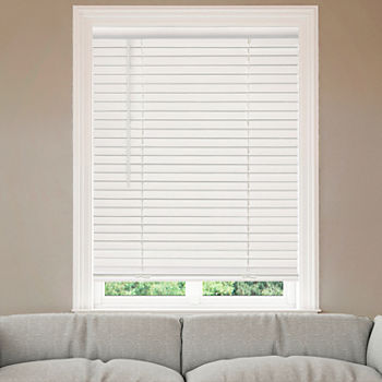 "Home Expressions 2"" Cut-to-Width Cordless Faux Wood Blinds"