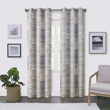 Regal Home Surfaces Tiles Light-Filtering Grommet-Top Single Curtain Panel