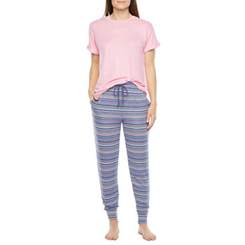 Jaclyn Womens Pant Pajama Set 2-pc. Short Sleeve