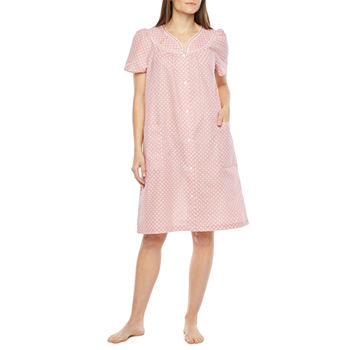Lissome Womens Robe Short Sleeve Knee Length