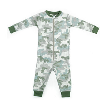 Jaclyn Camo Family Sleepwear Baby Unisex Knit Long Sleeve One Piece Pajama