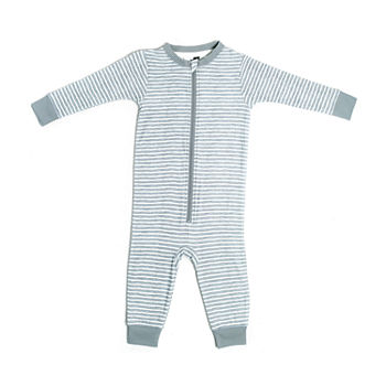 Jaclyn True Stripe Family Sleep Baby Unisex Knit Long Sleeve One Piece Pajama
