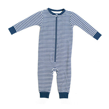Jaclyn Magazine Stripe Family Sleep Baby Unisex Knit Long Sleeve One Piece Pajama