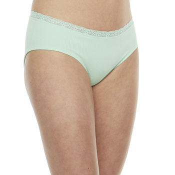 Flirtitude Seamless With Lace  Hipster Panty