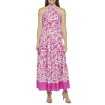 Melonie T Sleeveless Floral Maxi Dress with Coordinating Face Mask
