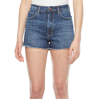 "Arizona Womens High Rise 4 1/2"" Denim Short-Juniors"