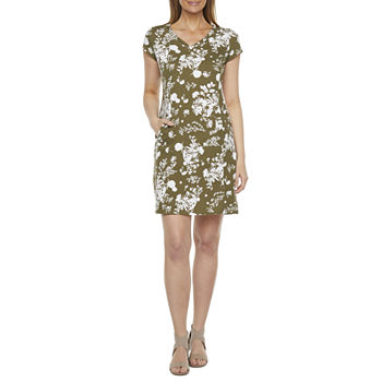 Liz Claiborne Short Sleeve Floral Shift Dress