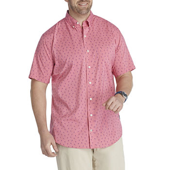 IZOD Big and Tall Mens Short Sleeve Cooling Moisture Wicking Button-Down Shirt