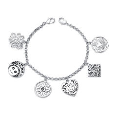 Footnotes® Silver-Plated Stainless Steel Cham Bracelet