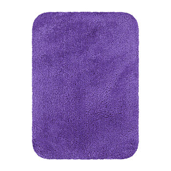 Oval Purple Bath Rugs Mats For
