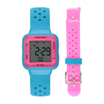 Armitron Prosport Womens Chronograph Multicolor Strap Watch-45/7123nbpst