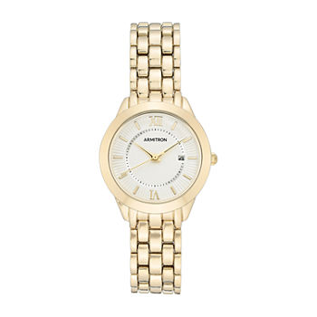 Armitron Womens Gold Tone Bracelet Watch - 75/5741svgp