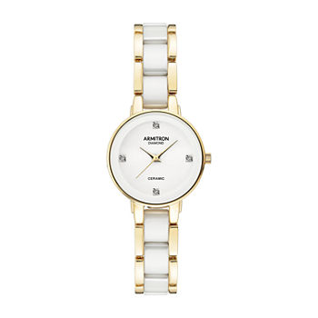 Armitron Armitron Womens White Bracelet Watch - 75/5532wtgp