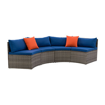 Parksville Patio Collection Curved Sectional
