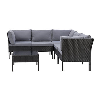 Parksville Patio Collection 6-Piece Sectional with Table