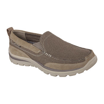 Skechers® Relaxed Fit Milford Men's Moc-Toe Slip-On Shoes