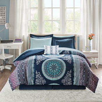 Intelligent Design Blue Comforters Bedding Sets For Bed Bath
