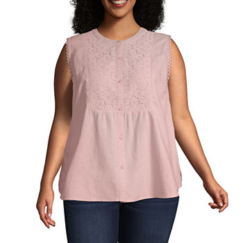 77af4bd166c9a Plus Size Sleeveless Tops for Women - JCPenney