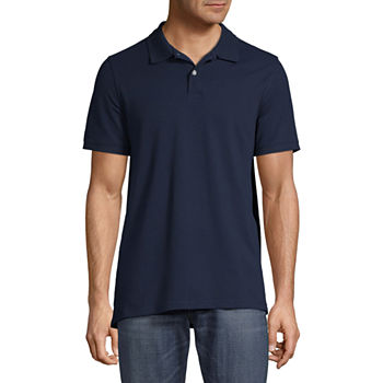 St. John's Bay Premium Stretch Mens Short Sleeve Polo Shirt