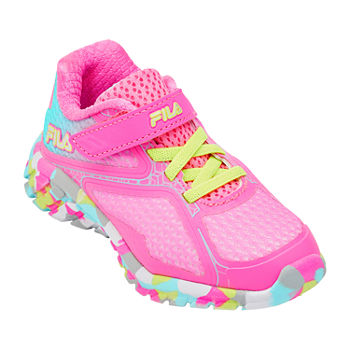 Fila Primeforce 5 Strap Toddler Girls Running Shoes