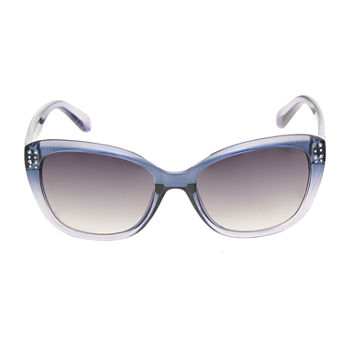 a.n.a Plastic Cateye With Studs And Stones Womens Sunglasses
