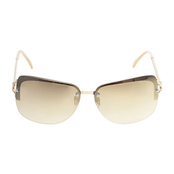 a.n.a Metal Rimless Rectangle Twisted Temple Womens Sunglasses