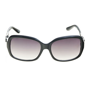 a.n.a Medium Plastic Rectangle With Chain Temple Womens Sunglasses