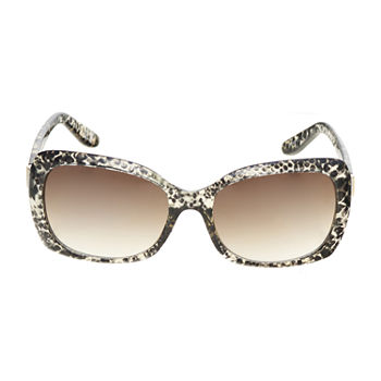 Mixit Plastic Rectangle With Snake Print Womens Sunglasses
