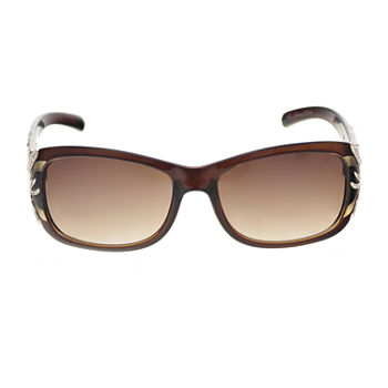 Mixit Plastic Rec With Metal Animal Temples Womens Sunglasses