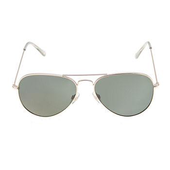 Foster Grant Metal Large Aviator Womens Sunglasses