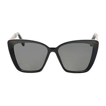 Worthington Plastic Square Cateye With Metal Temple Womens Sunglasses
