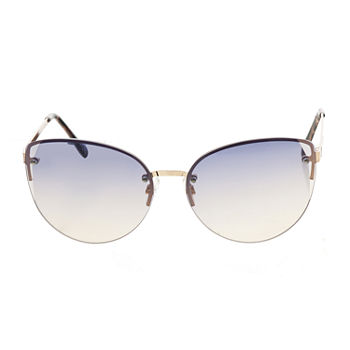Worthington Metal Large Soft Rimless Cat Womens Sunglasses