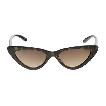 Worthington Plastic Small Angular Cateye With Animal Womens Sunglasses