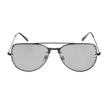 Worthington Metal Aviator With Studs Womens Sunglasses