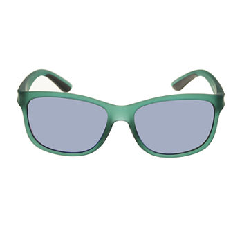 Xersion Plastic Wayfarer With Blue Mirror Lens Womens Sunglasses