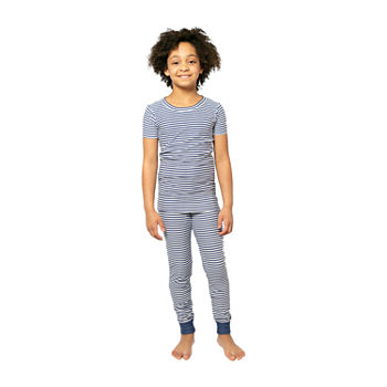 Jaclyn Magazine Stripe Family Sleep Little & Big Unisex 2-pc. Pajama Set