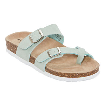 Arizona Fairhaven Womens Adjustable Strap Footbed Sandals