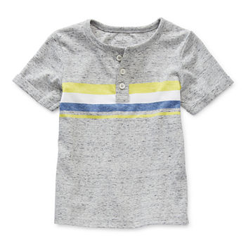 Okie Dokie Toddler Boys Short Sleeve Henley Shirt
