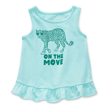 Okie Dokie Toddler Girls Round Neck Tank Top