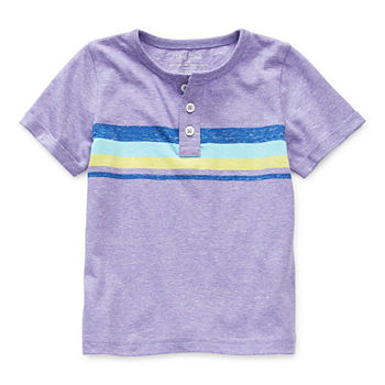 Okie Dokie Little Boys Short Sleeve Henley Shirt