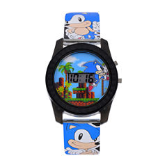 Sonic the Hedgehog Boys Blue Strap Watch-Snc4008jc