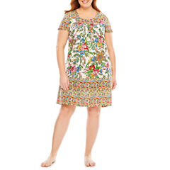 Knit Pattern Nightgown-Plus
