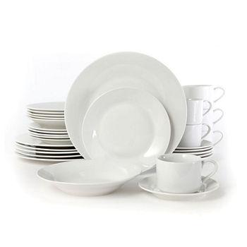 a60a30b22845b Rosendal 30 Pc Dinnerware Set - Service For 6 - Round - White - Fine Ceramic