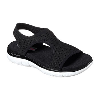 Skechers Womens Flex Appeal 2.0 - Deja Vu Slide Sandals